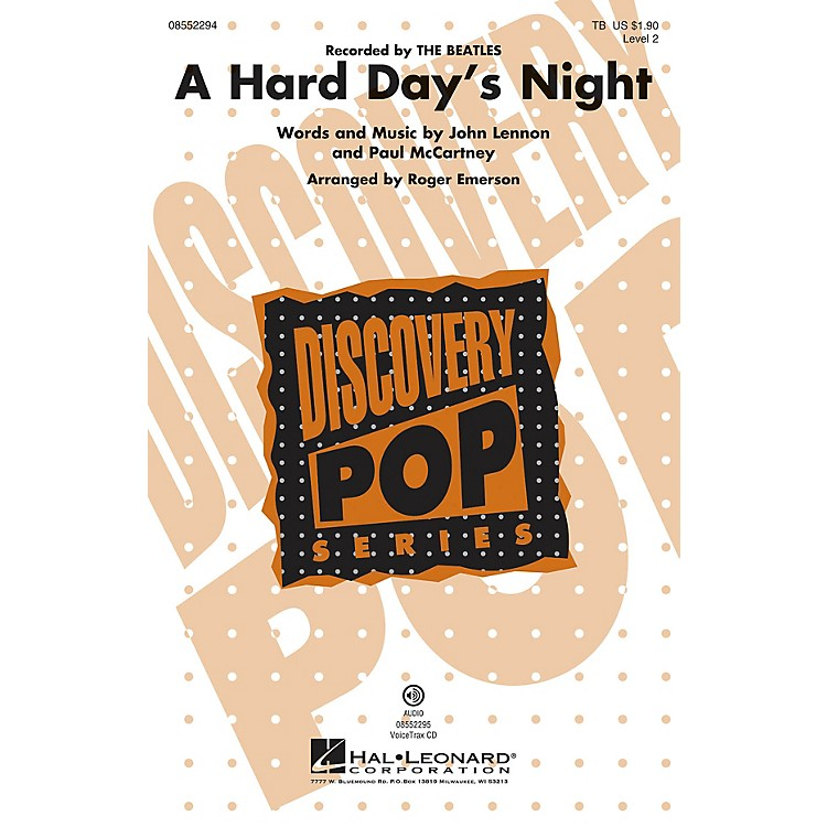 Hal Leonard A Hard Day's Night (Discovery Level 2) VoiceTrax CD by The Beatles Arranged by Roger Emerson