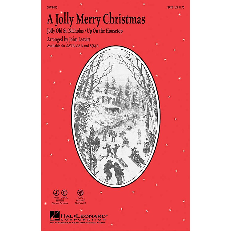Hal Leonard A Jolly Merry Christmas CHOIRTRAX CD Arranged by John Leavitt