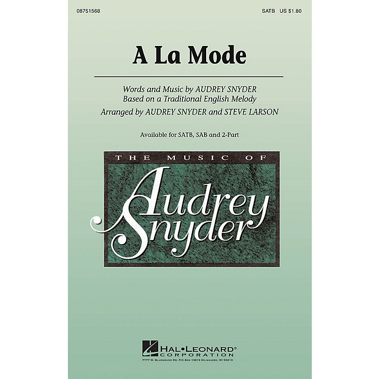 Hal LeonardA La Mode 2-Part Arranged by Audrey Snyder
