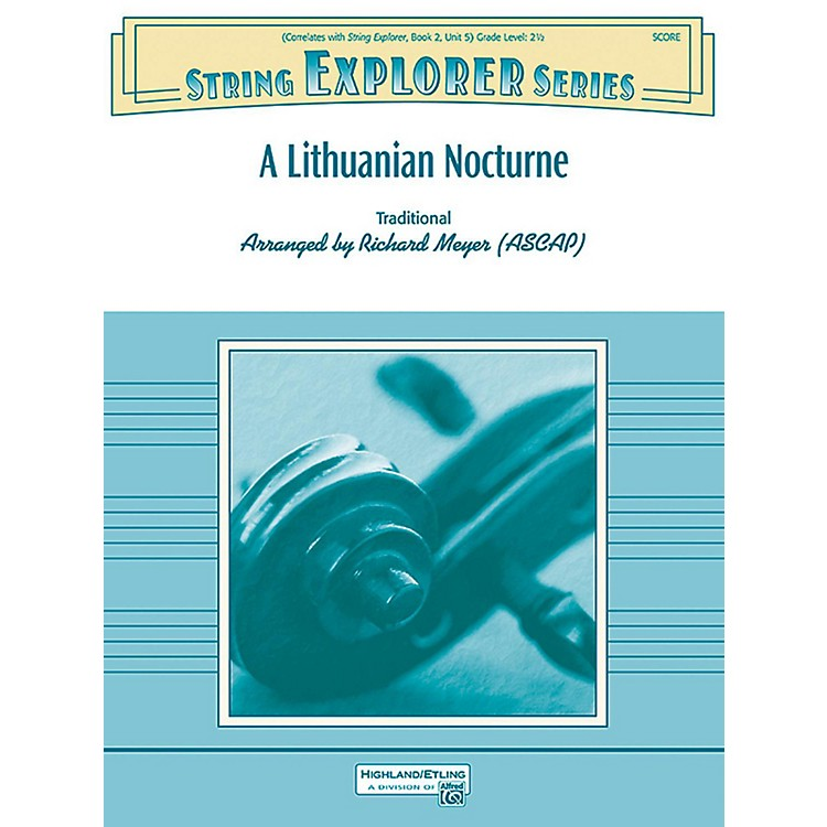 AlfredA Lithuanian Nocturne String Orchestra Grade 2.5