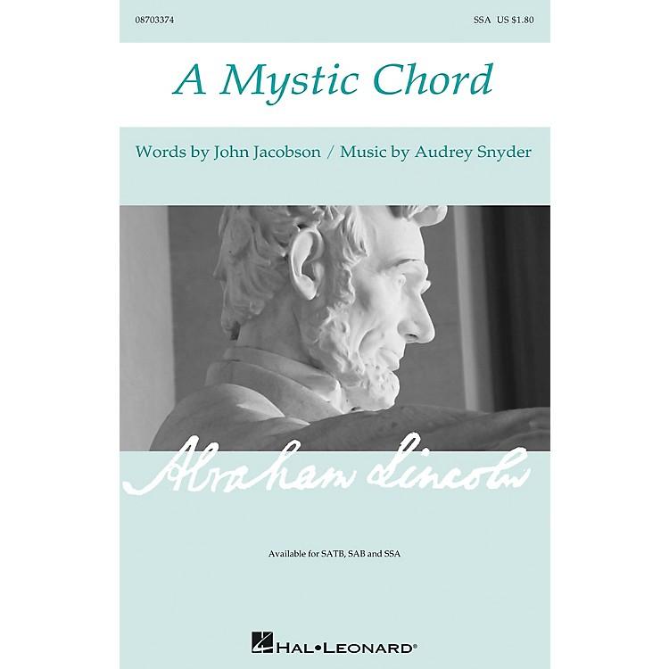 Hal LeonardA Mystic Chord SSA composed by Audrey Snyder