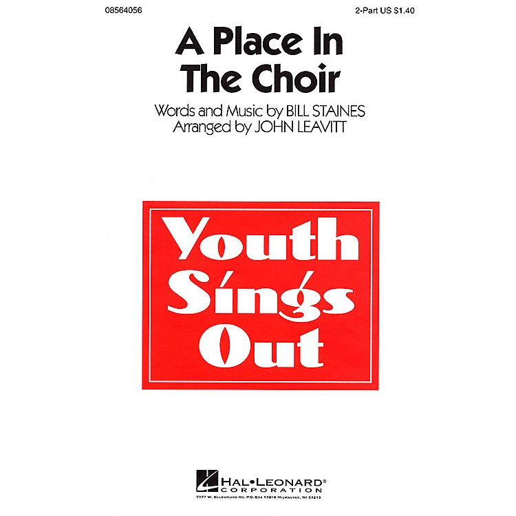 Hal Leonard A Place in the Choir 2-Part arranged by John Leavitt