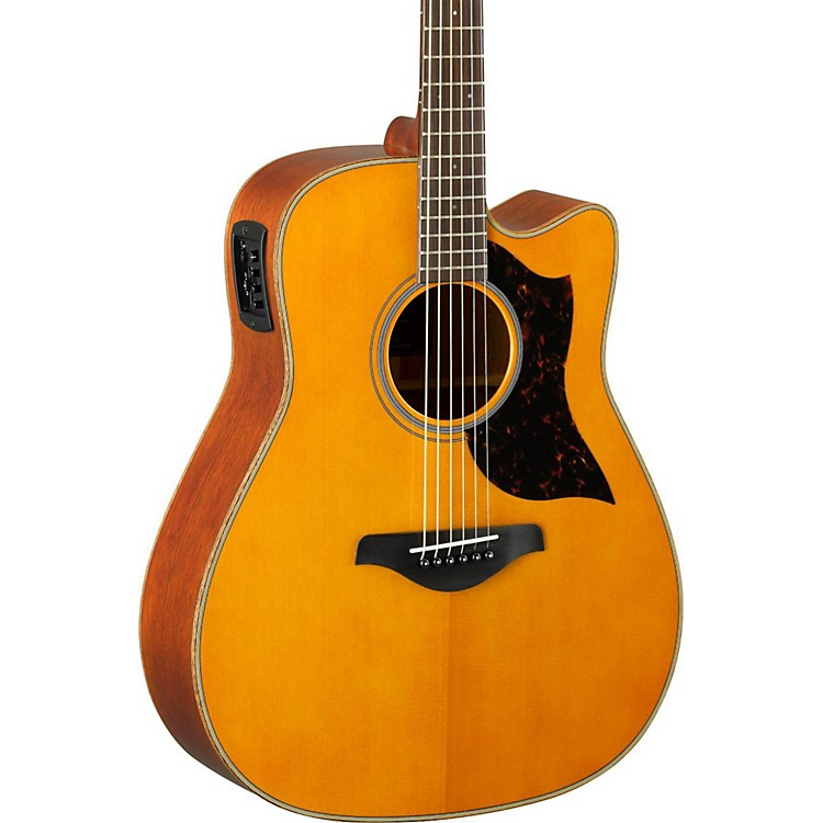 YamahaA-Series A1M Cutaway Dreadnought Acoustic-Electric GuitarVintage Natural