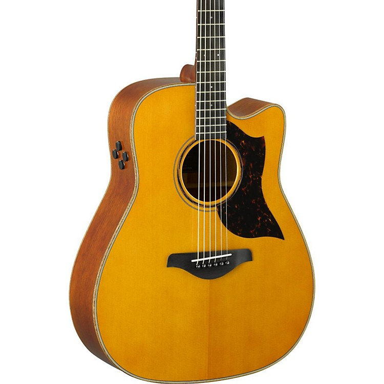 YamahaA-Series A3M Dreadnought Cutaway Acoustic-Electric GuitarVintage Natural