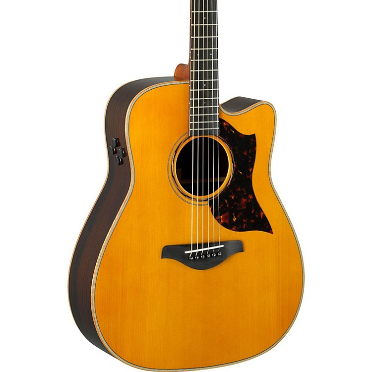 yamaha a series a3r dreadnought acoustic electric guitar vintage natural music123. Black Bedroom Furniture Sets. Home Design Ideas
