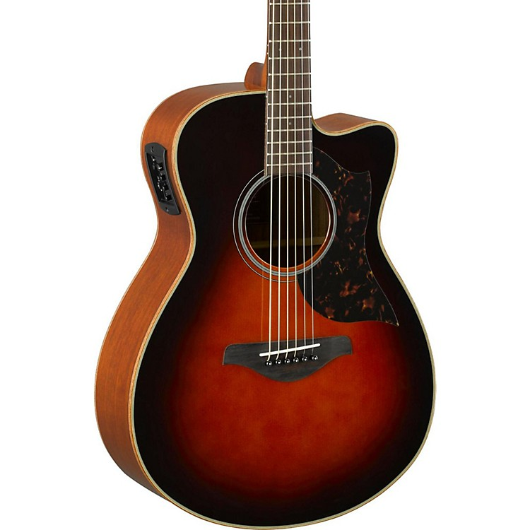 YamahaA-Series AC1M Cutaway Concert Acoustic-Electric GuitarTobacco Sunburst