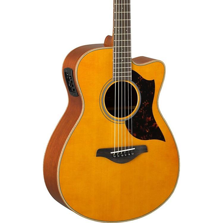 YamahaA-Series AC1M Cutaway Concert Acoustic-Electric GuitarVintage Natural