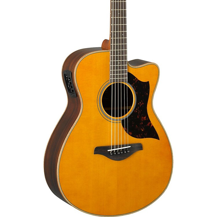 YamahaA-Series AC1R Cutaway Concert Acoustic-Electric GuitarVintage Natural