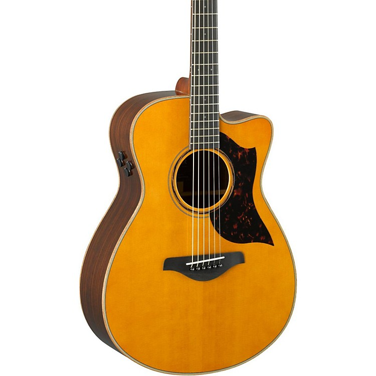 Yamaha A-Series AC3R Concert Cutaway Acoustic-Electric Guitar Tobacco Brown Sunburst 190839260369