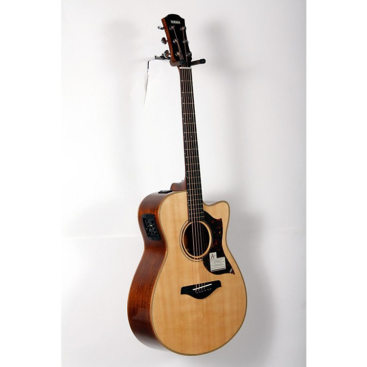 Yamaha A-Series All Solid Wood Concert Acoustic-Electric Guitar with SRT Preamp/Pickup Mahogany Back and Sides 888365899916
