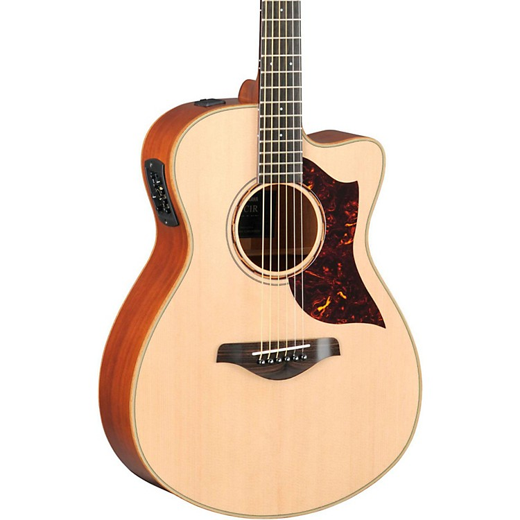 Yamaha A-Series All Solid Wood Concert Acoustic-Electric Guitar with SRT Preamp/Pickup Mahogany Back and Sides