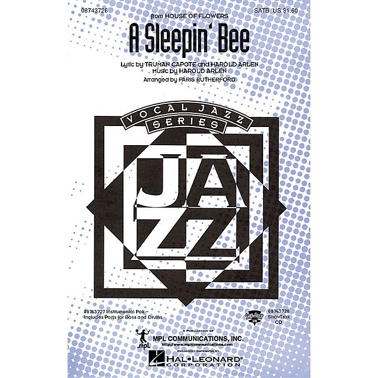 Hal LeonardA Sleepin' Bee (from House of Flowers) IPAKR Arranged by Paris Rutherford