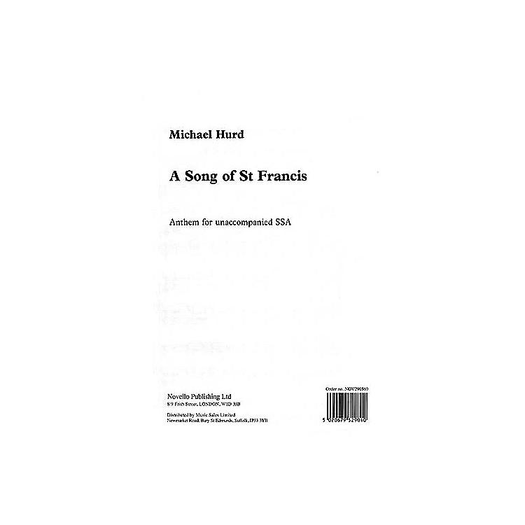 NovelloA Song of Saint Francis SSA Composed by Michael Hurd