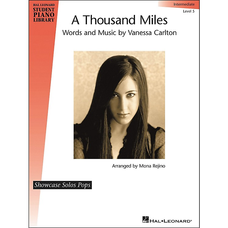 Hal Leonard A Thousand Miles - Showcase Solo Level 5 Intermediate Hal Leonard Student Piano Library by Mona Rejino