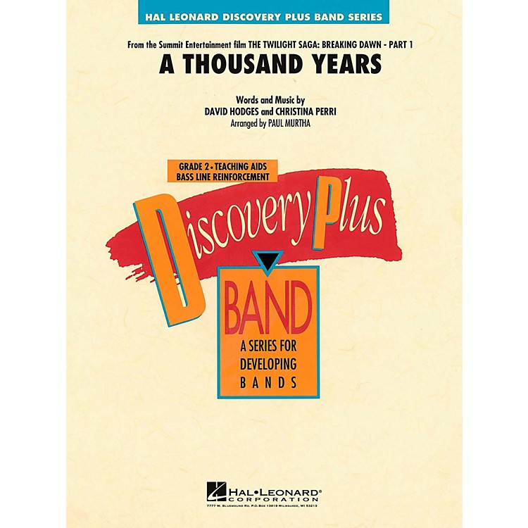Hal Leonard A Thousand Years Concert Band Level 2