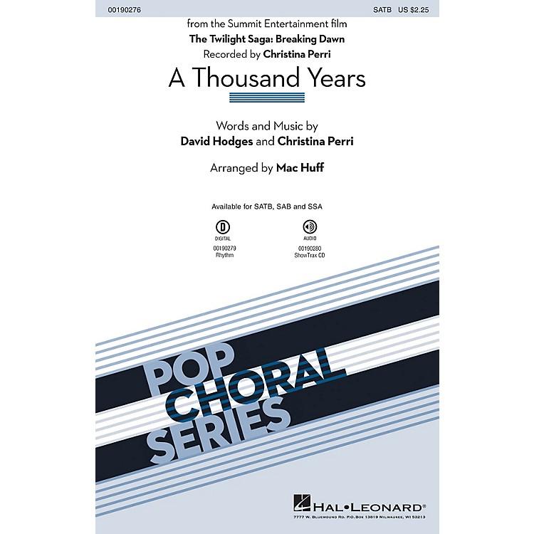 Hal LeonardA Thousand Years SSA by Christina Perri Arranged by Mac Huff