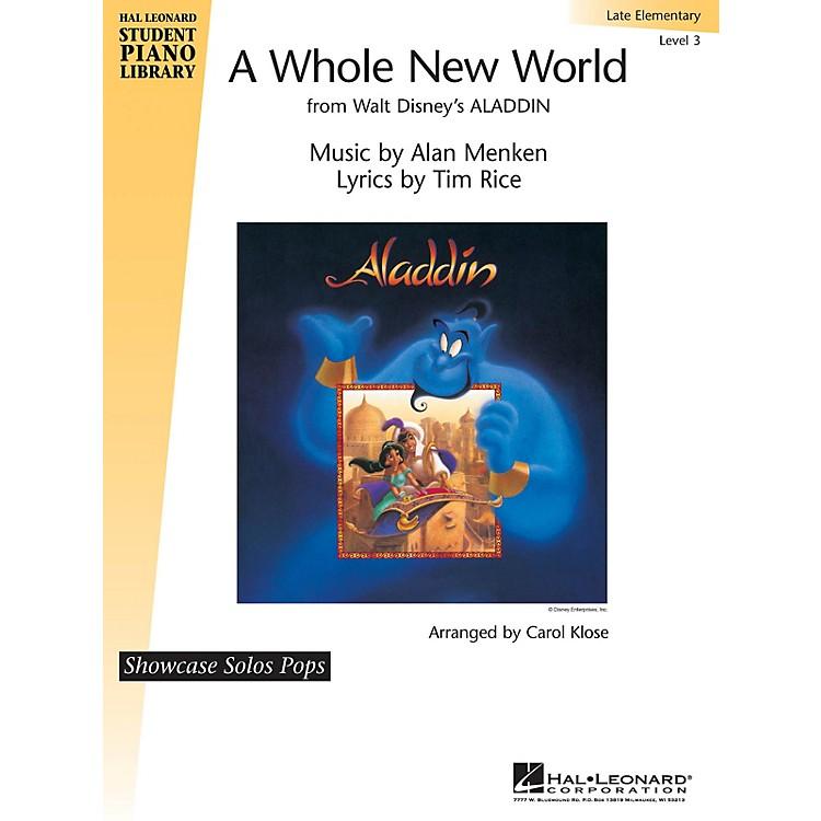 Hal LeonardA Whole New World Piano Library Series by Alan Menken (Level Late Elem)