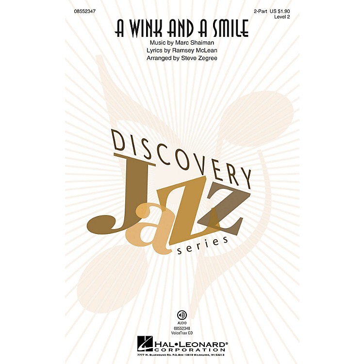 Hal Leonard A Wink and a Smile VoiceTrax CD by Harry Connick, Jr. Arranged by Steve Zegree