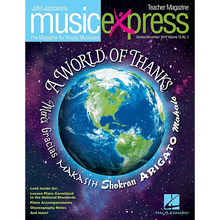 Hal LeonardA World of Thanks Vol. 15 No. 2 (October/November 2014) Teacher Magazine w/CD Composed by John Jacobson