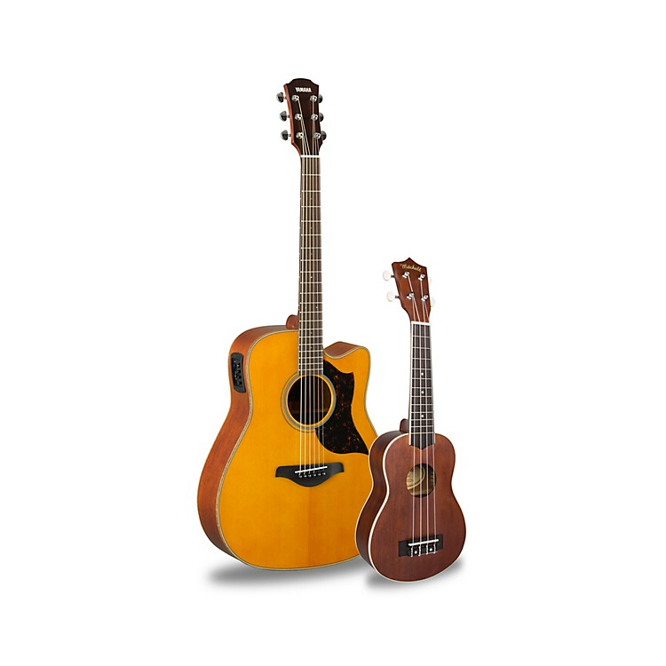 YamahaA1M Acoustic-Electric Guitar and Ukulele PackageVintage Natural