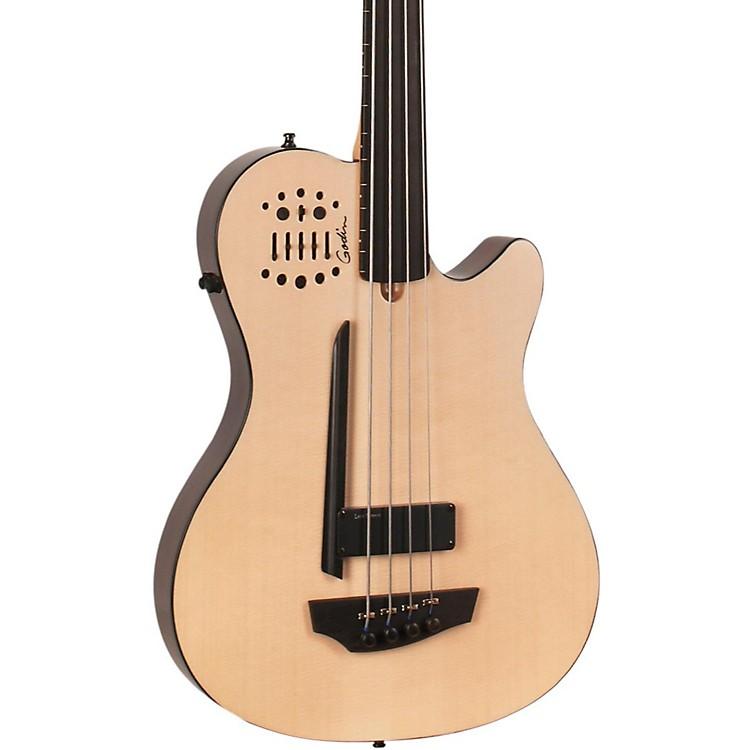 GodinA4 Ultra Natural Fretless SA Acoustic-Electric Bass GuitarNatural, Ebony Fretboard888365909998