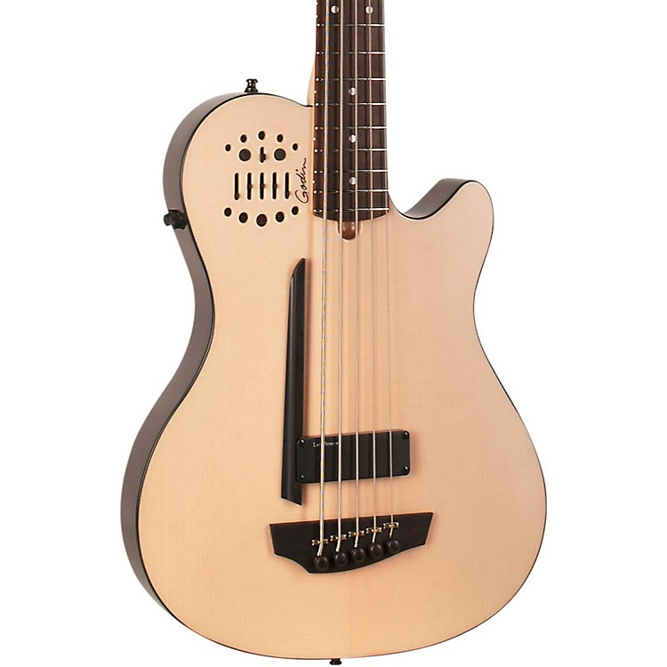 GodinA5 Ultra Natural SA 5-String Acoustic-Electric Bass GuitarNaturalRosewood Fretboard