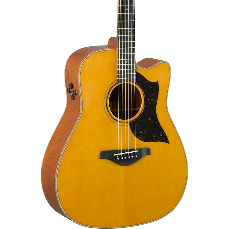 YamahaA5M A-Series Dreadnought Acoustic-Electric GuitarVintage Natural