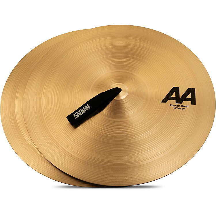 Sabian AA Concert Band Cymbals 18 in. Brilliant Finish