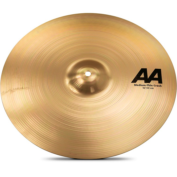 Sabian AA Medium Thin Crash Cymbal Brilliant 16 in.