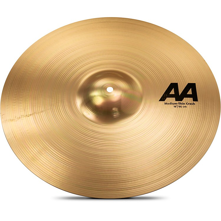 Sabian AA Medium Thin Crash Cymbal Brilliant 18 in.