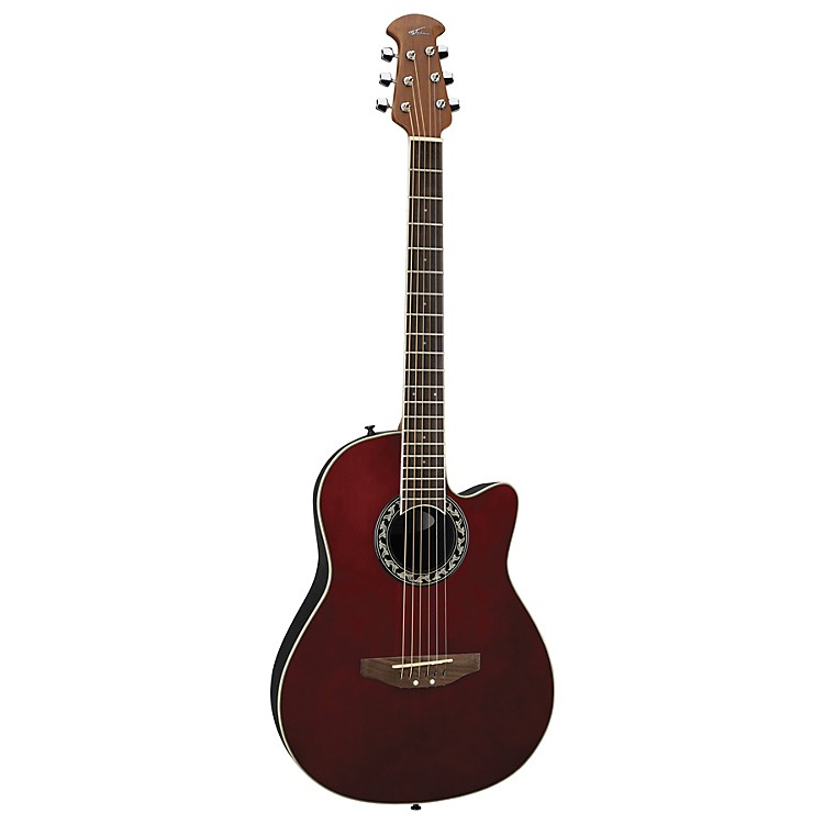 Applause AA13 Minibowl Cutaway Acoustic Guitar Ruby Red