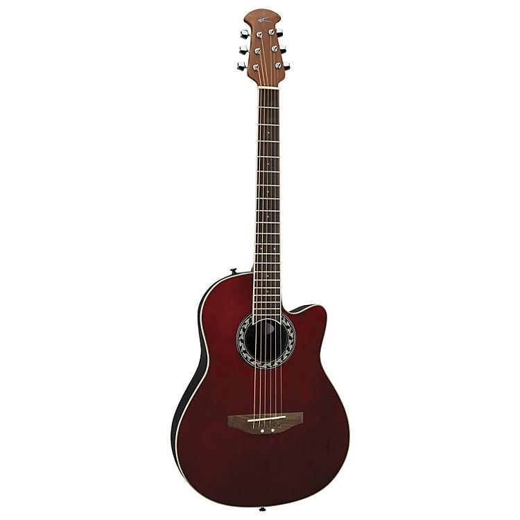 ApplauseAA13 Minibowl Cutaway Acoustic GuitarRuby Red