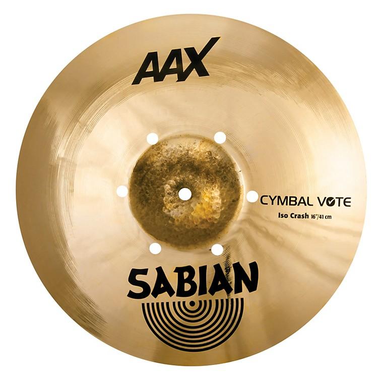 SabianAAX ISO Crash Cymbal16 in.