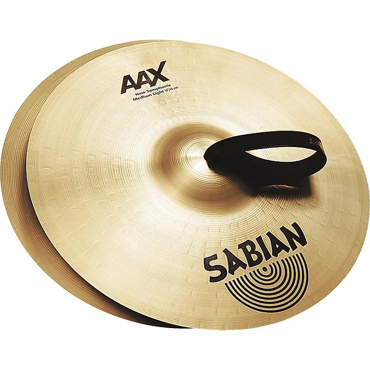 SabianAAX New Symphonic Medium Light Cymbal Pair22 in.