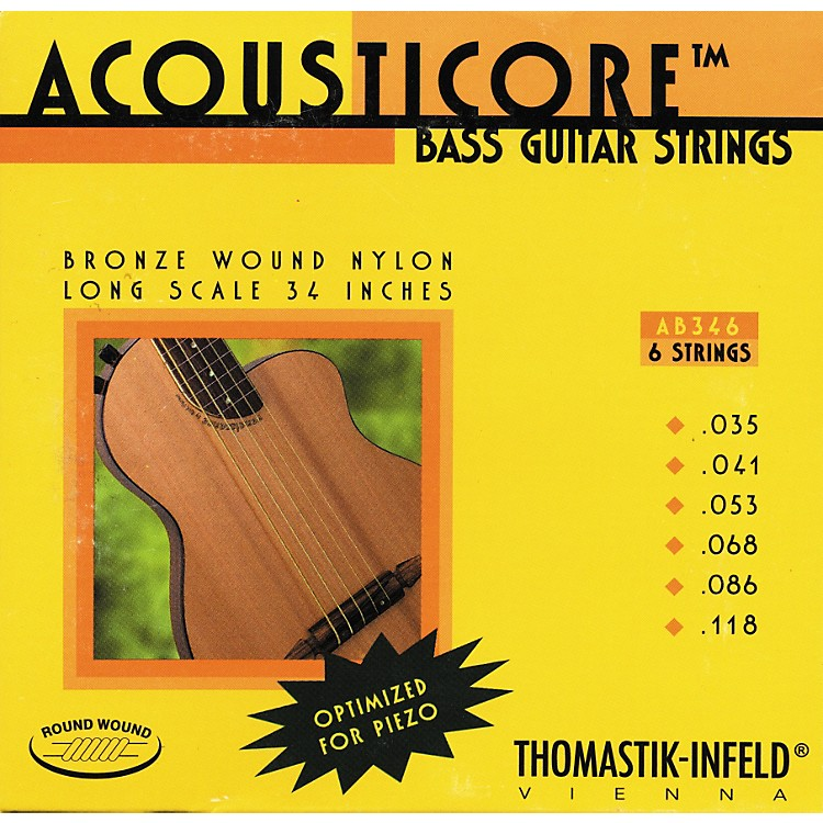 ThomastikAB346 Acousticore Phosphor-Bronze 6-String Bass Strings