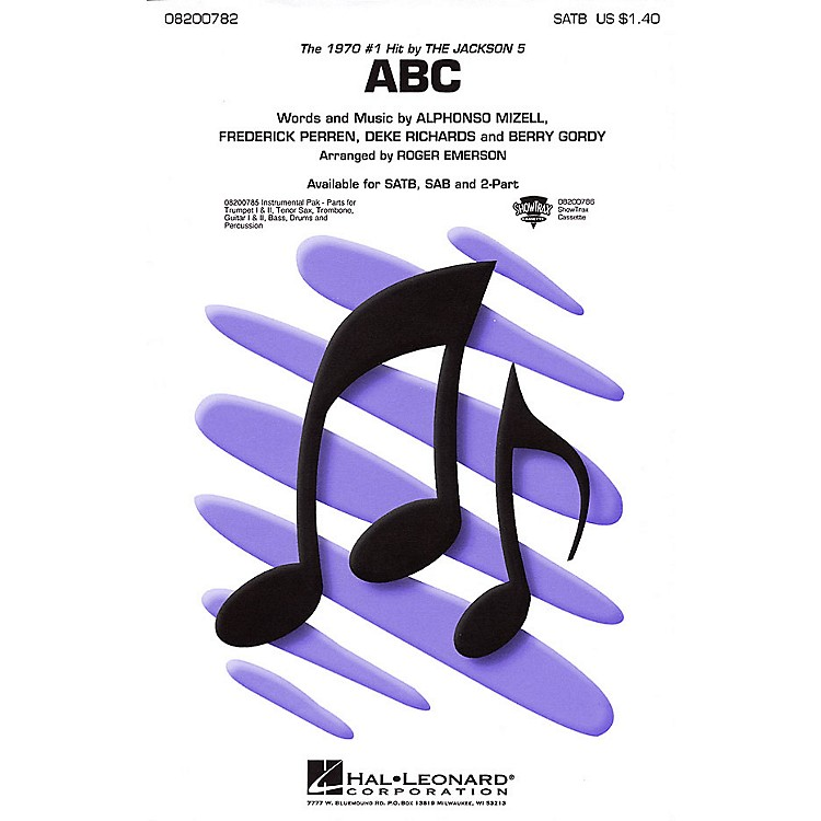 Hal LeonardABC 2-Part by The Jackson 5 Arranged by Roger Emerson