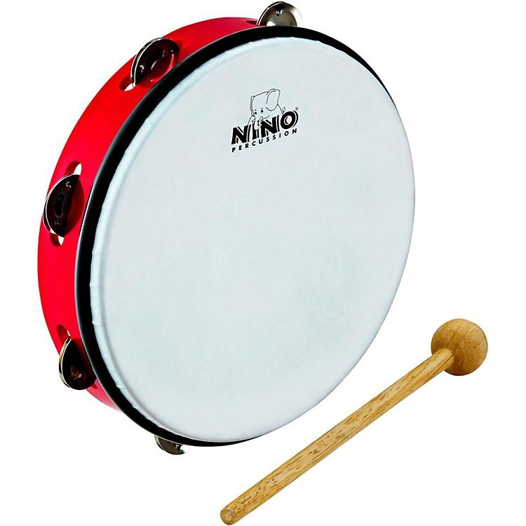NinoABS Jingle Drums Tambourine10 in.Red