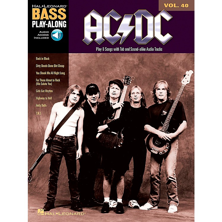 Music SalesAC/DC - Bass Play-Along Volume 40 (Book/CD)