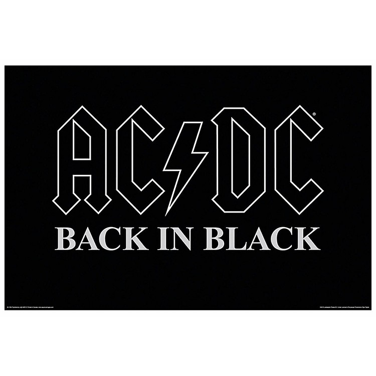 Hal LeonardAC/DC Back in Black Wall Poster