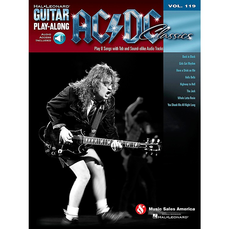 Hal Leonard AC/DC Classics - Guitar Play-Along Volume 119 (Book/Online Audio)