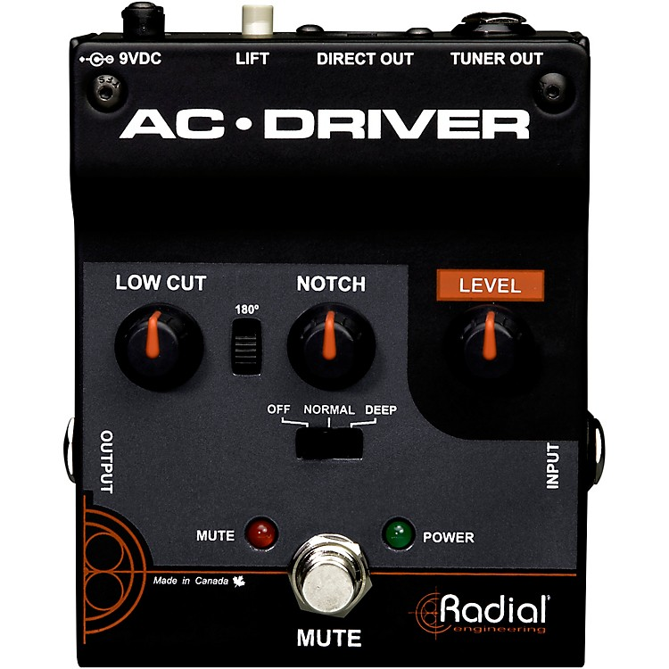 Radial EngineeringAC-Driver Acoustic Instrument Preamp
