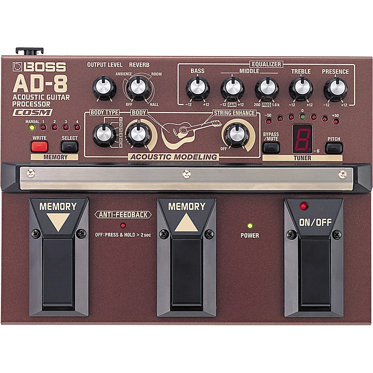 Boss AD-8 Acoustic Guitar Multi-Effects Pedal  888365829975