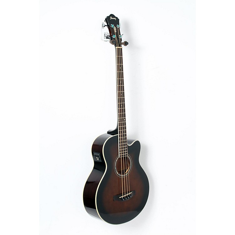 Ibanez AEB10E Acoustic-Electric Bass Guitar with Onboard Tuner Dark Violin Sunburst 888365901404