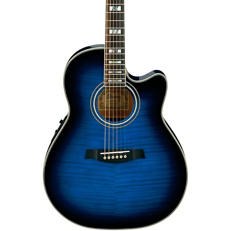 IbanezAEF30E Acoustic-Electric GuitarTransparent Blue Sunburst