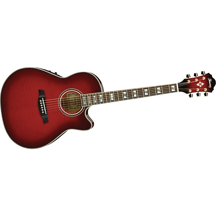 Ibanez AEF30E Acoustic-Electric Guitar Transparent Hibiscus Sunburst