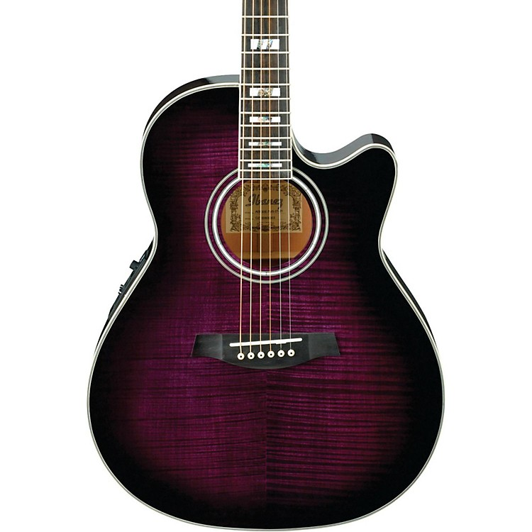 Ibanez AEF30E Acoustic-Electric Guitar Transparent Violet Sunburst