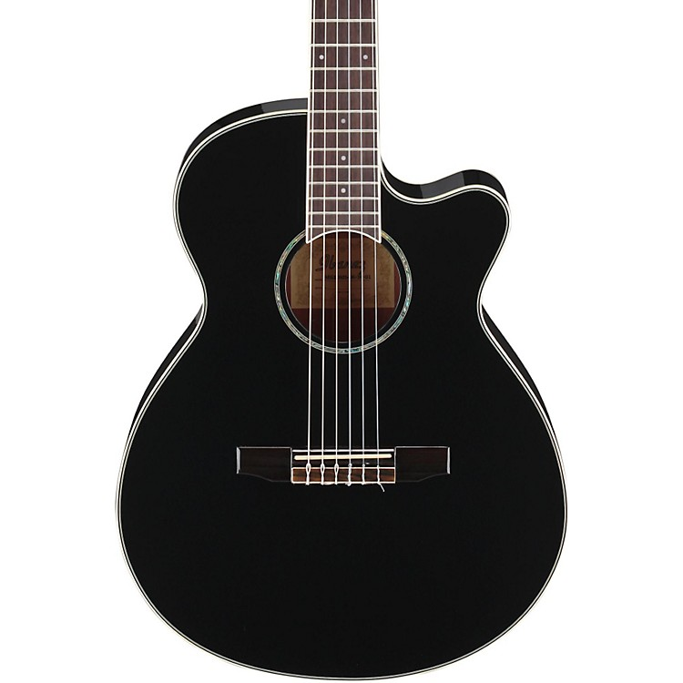 Ibanez AEG10NII Nylon String Cutaway Acoustic-Electric Guitar Black 888365845913