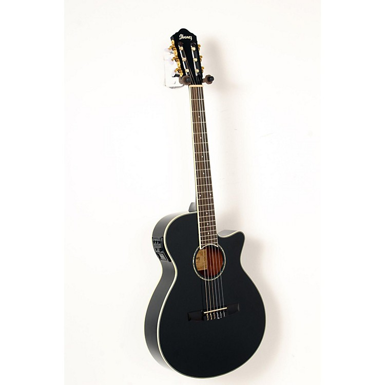 Ibanez AEG10NII Nylon String Cutaway Acoustic-Electric Guitar Black 888365842899