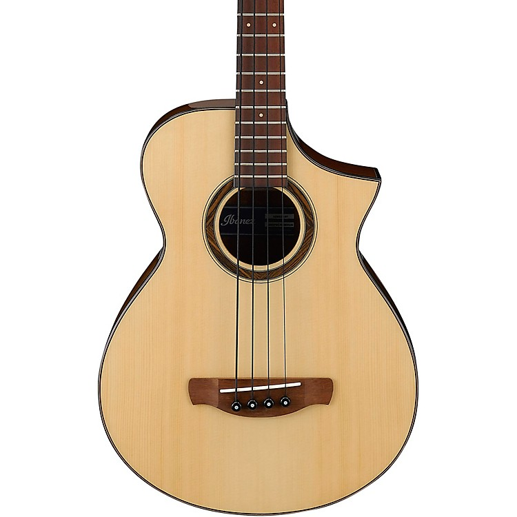 IbanezAEWB32 Short-Scale Acoustic-Electric BassGloss Natural