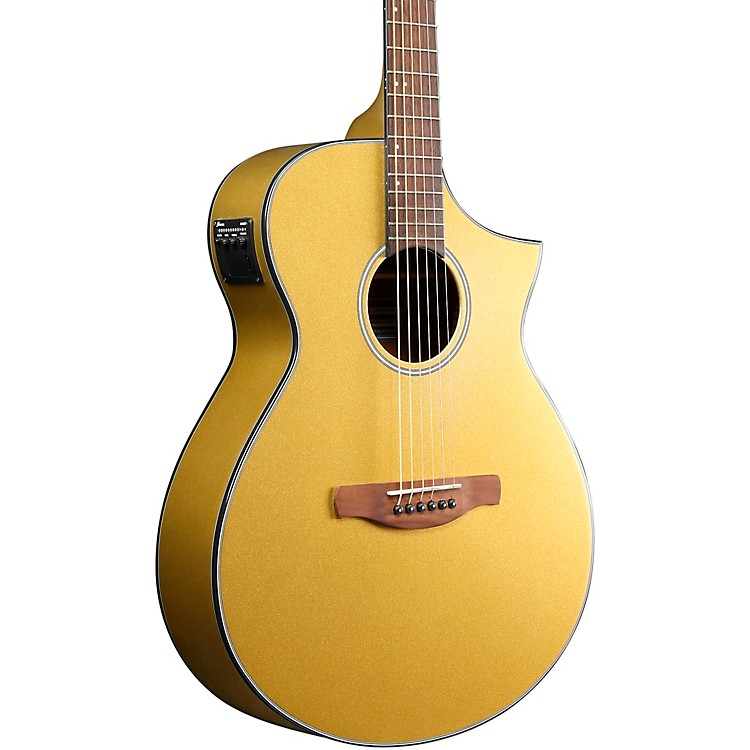 IbanezAEWC10 Acoustic-Electric GuitarDark Gold High Gloss